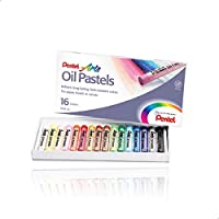 Pentel Pe-Phn-16Am Oil Pastels Set - 16 Color