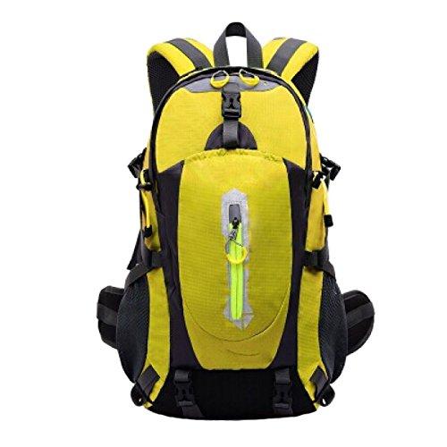 OGERT All'aperto Alpinismo Zaino Grande Capacità,Black Yellow