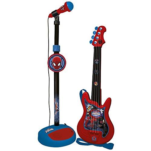 Reig Spider-Man Gitarre und Standmikrofon