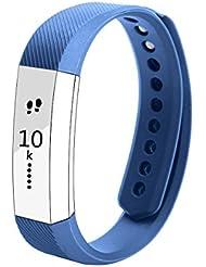Fitbit Alta Correa , BeneStellar Repuesto de Correa para Fitbit Alta Pulsera Deportiva (Sin Monitor de Actividades) (azul oscuro, small)