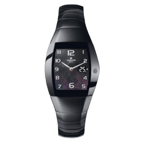 Junghans Damen-Armbanduhr Aura Quadra Analog Quarz Keramik 013/1121.44