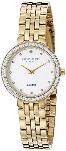 Rudiger Women's R3300-09-001 Hesse Analog Display Quartz Gold Watch
