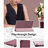 Dadanism All-New Amazon Fire 7 Tablet Case (9th Generation, 2019 Release Only), [Flexible TPU Translucent Back Shell] Ultra Slim Lightweight Trifold Stand Cover with Auto Sleep/Wake - Rose Gold