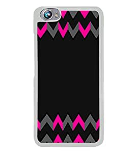 PrintVisa Plain Printed Chevron High Gloss Designer Back Case Cover for Micromax Canvas Fire 4 A107