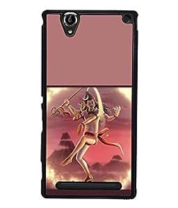 PrintVisa Designer Back Case Cover for Sony Xperia T2 Ultra :: Sony Xperia T2 Ultra Dual SIM D5322 :: Sony Xperia T2 Ultra XM50h (Shiva In Natraaj Dance Form Design)