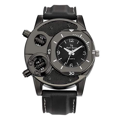Huhuswwbin orologio sportivo orologio da polso analogico al quarzo analogico sportivo con quadrante rotondo in silicone v8 cool