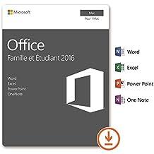Microsoft Office Famille et Etudiant 2016 | 1 Mac | téléchargement