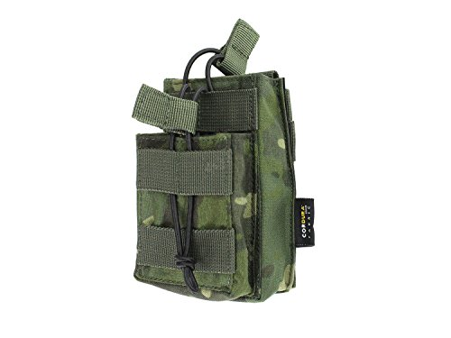 BE-X Gestapelte Magazintasche CQB, MOLLE, für zwei M4/M16 Magazine - multicam tropic