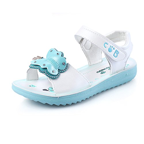 Sandalia Niñas Verano Zapatos Sandalia de Vestir de Mariposa de Chicas con Punta Abierta Sandalias...