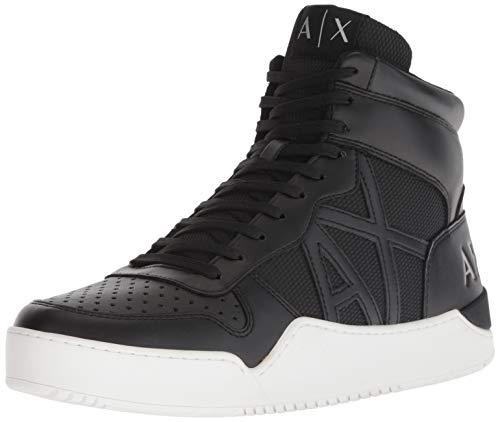 Armani Exchange Herren Hi-top Hohe Sneaker, Schwarz (Black 00002),  43 EU (9 UK)