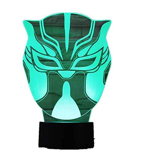 Wangzj 3d led illusion nachtlicht / 7 farben ändern/usb powered/dekorationen lichter geschenke/china maske -