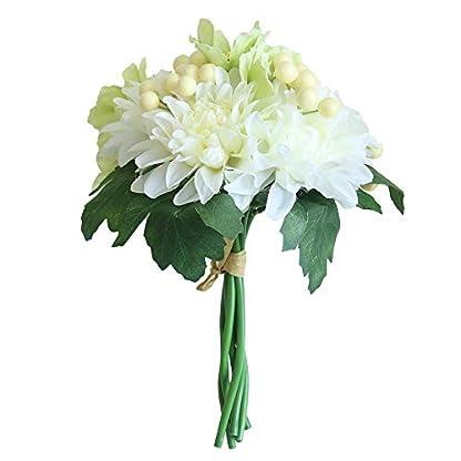 Sayla Flores Artificiales Bayas Artificiales para Decoración de Navidad y Arreglo Floral Dalias para Banquete de Boda Fiesta casa Ramo de Novia Rosado