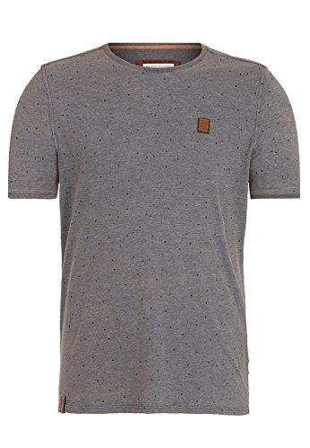 Naketano Male T-Shirt Fear Will Find You II Heritage Indigo Blue Melange