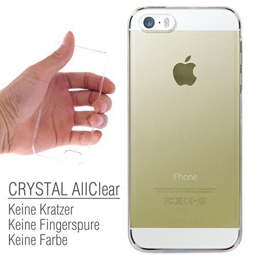 doupi Crystal AllClear Schutzhülle Case für Apple iPhone 5 5S iPhone SE Case Hülle Schale Bumper Cover Transparent Glasklar Hardcase
