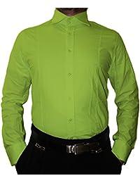 c43deddc92 Designer Hombre Camisa Cuello clásico New Kent 2 Botón Señor Camisa Slim  Fit Entallado Manga Larga