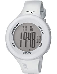 Puma Fit Unisex Digital Watch with LCD Dial Digital Display and White Plastic or PU Strap PU910961002