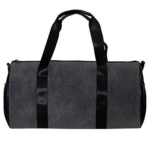 Veckgeng Große Sporttaschen für Männer und Frauen Tasche Sport Reißverschluss Geschenk Damen Sport Duffle Bag Schwarz Süß 44,7 x 22,9 cm