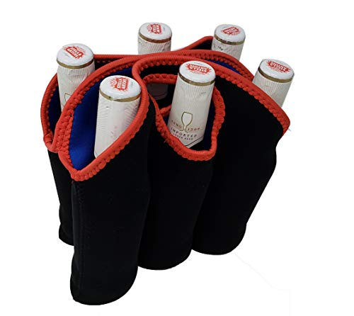 6er-Pack Bier-Schutztasche für 6 Flaschen, gepolstert, für Reisen, Camping und Picknick-Tragetasche. (Six Pack Bier)