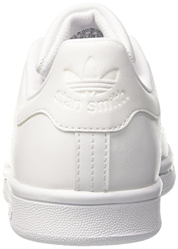 adidas Stan Smith J, Chaussures de Tennis Mixte Enfant Blanc Cassé (White/ftwr White/ftwr White)