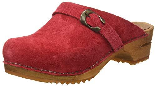 Sanita Damen Hedi Open Clogs, Rot (Red 4), 38 EU