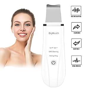 DigHealth Limpiador Facial Ultrasonico, Skin Scrubber Profesional con Función de Masaje Facial, Peeling Ultrasonico para…