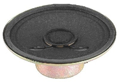 MONACOR SP-2RDP Miniatur-Einbaulautsprecher, 8 Ohm, 50 mm Schwarz