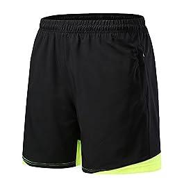 FELiCON Pantaloncini Sportivi da Uomo, Pantaloncini da Corsa per Uomo con Tasca con Zip, Quick Dry Traspirante per Allenamento Palestra Fitness da Jogging