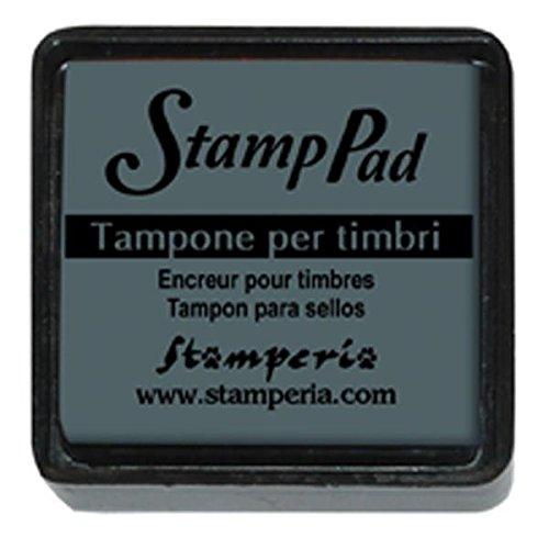 Cuscinetto inchiostrato 2.5x2.5 cm per timbri Antracite © Stamperia WKP26P