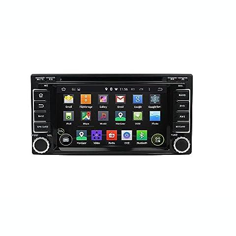 Android 6.0 Octa Core 1024 * 600 DVD de voiture Navigation GPS lecteur multimédia stéréo de voiture pour Subaru Forester/Impreza 2008 2009 2010 2011 radio Commande au volant avec 3 G WiFi Bluetooth carte SD gratuit 6.2 Pouces