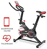Miweba Sports Indoor Cycling MS100 Fitnessbike - 10 Kg Schwungmasse - Stufenfreie...