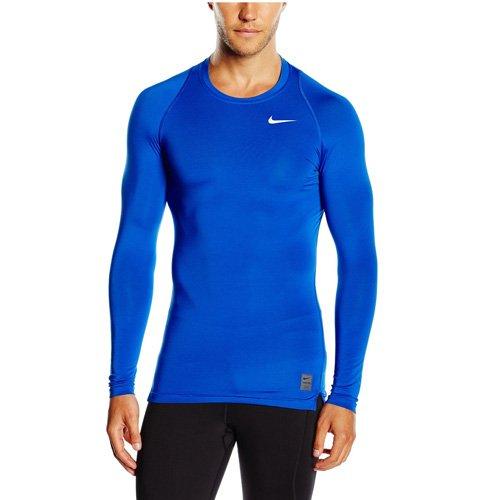 Nike Herren Pro Cool Kompressionsshirt Langarm, blau, M, 703088-480 (Langarm-shirt Fleece Herren)