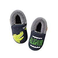 ENCOCO Cute Animal Slippers Kids Toddlers Cartoon Winter Warm House Slippers Booties