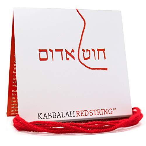Cadena de Kabbalah ORIGINAL de Israel Paquete de brazalete de Kabbalah STRING ROJO - 150 CM Red String para hasta SIETE pulseras de protección contra los ojos malvados - ¡Instrucciones incluidas!