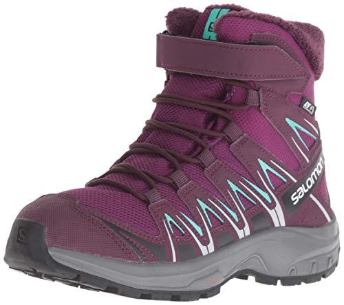 Salomon Unisex-Kinder XA Pro 3D Winter TS CSWP J Hiking- und Multifunktionsschuhe, Synthetik/Textil, lila (dark purple/potent purple/atlantis), Gr. 33