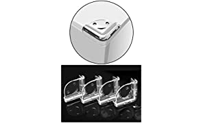 Safe-O-Kid Smiley Shaped Compact Corner for Sharp Corners, Pack of 4