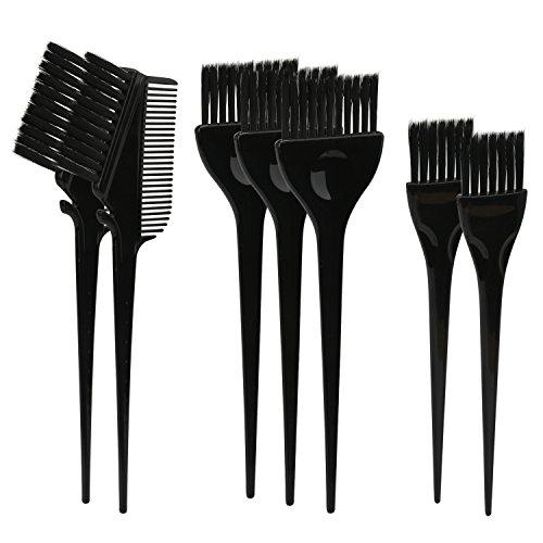 Segbeauty® 7pcs nero tint brush set tinta per capelli pennello, sezione robusta capelli colorazione pennello, salon professional hair styling balayage strumenti colori evidenziatore spazzola