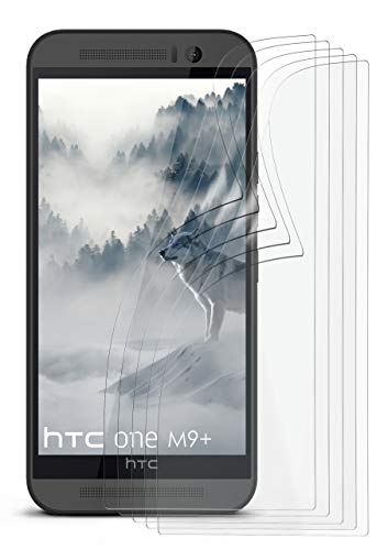 5X HTC One M9 Plus | Schutzfolie Matt Bildschirm Schutz [Anti-Reflex] Screen Protector Fingerprint Handy-Folie Matte Bildschirmschutz-Folie für HTC One M9+ Plus Bildschirmfolie