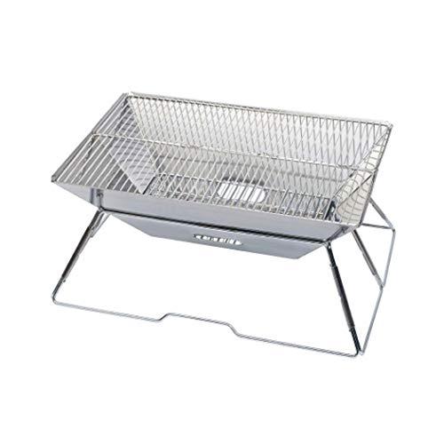 Tragbaren Holzkohle-grill Aus Stahl (DSHBB Grill, Holzkohle Grillen Grill Regale, Tragbare Holzkohle Grill Edelstahl Camping Outdoor Garten Grill Stahl)