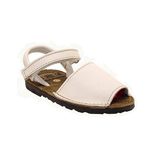 15091 - Sandalias ibicencas con Velcro Blanco 30