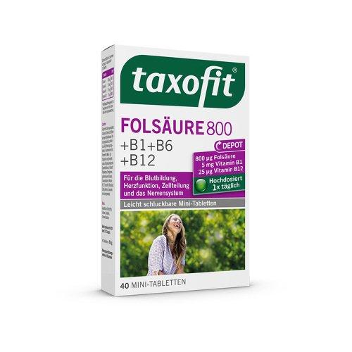 Taxofit Folsäure + Metafolin 800 Depot