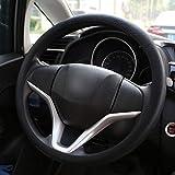 Coprivolante elegante in morbido silicone antiscivolo, decorazione per il volante dell'auto