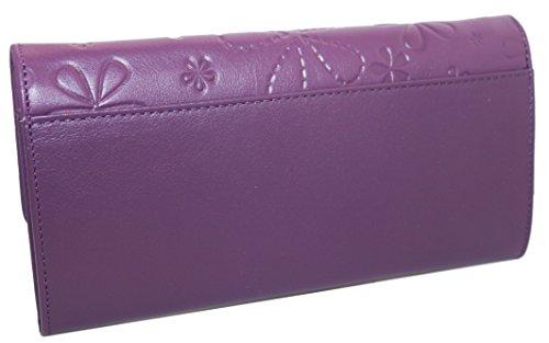 KissMe Collection by Casanova - Fatto a mano da artigiani in Spagna - Vera Pelle di alta qualità - Portafoglio donna (Passion Red) Deep Purple