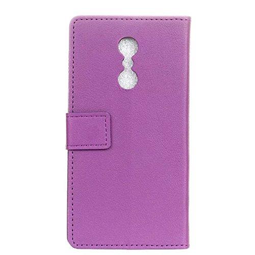 Solid Color Kas Textur Muster Leder Schutzhülle Case Horizontal Flip Stand Case mit Kartennuten für Lenovo K6 Hinweis ( Color : Pink , Size : Lenovo K6 Note ) Purple