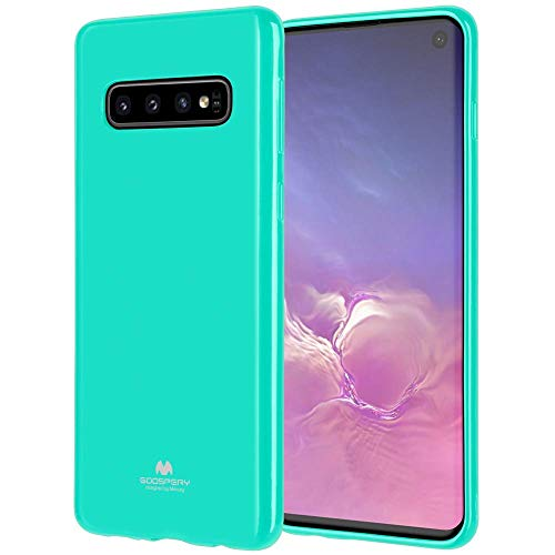 LEFANG Jelly Case Samsung Galaxy S10 Hülle, [Soft Rainbow Shell] Pearl Powder and TPU Case [Anti-Rutsch/Anti-Fall] Cover Jelly Case Cover