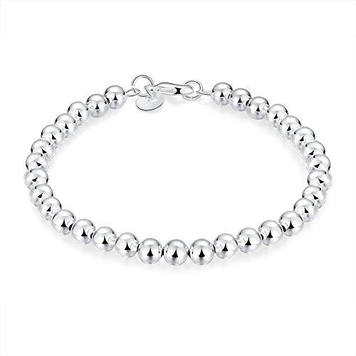 Preciosa pulsera de cadena de cuentas de Pulseras perlas Mini silberkanne 925 de plata de ley de diámetro 60 mm