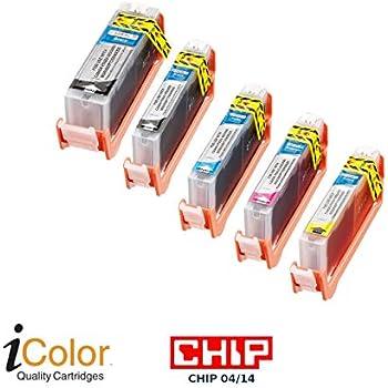 photo-black ohne CHIP iColor Patrone für CANON ersetzt CLI-521BK