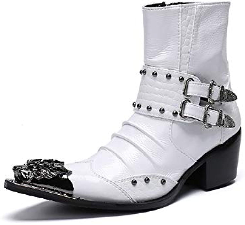 Stivali da uomo Moda punk scarpe scarpe scarpe in pelle a punta corta martin stivali personalizzati Western Cowboy stivali Rock... | Per tua scelta  | Uomo/Donne Scarpa  c18f9f
