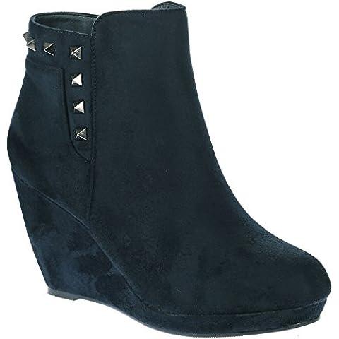 ByPublicDemand Marnie Mujer De Plataforma Zapato de Cuña botines