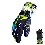 Ski Handschuhe, AimdonR Winter wärmste wasserdichte und atmungsaktive Schnee Handschuhe für Herren, Damen, Damen und Kinder Skifahren, Snowboarden,Paar Handschuhe