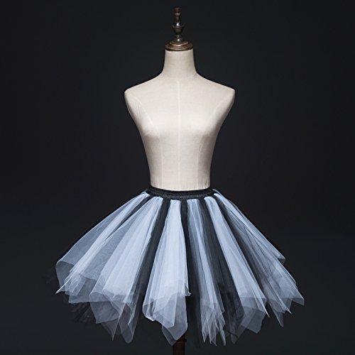 Tutu Frauen und Mädchen Ballettröckchen Röcke Prinzessin Ballett Pettiskirt Performing Dress Dancewear Unterröcke mixed 4